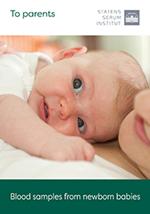 Forside af brochure vedr. Blodprøve fra nyfødte på engelsk