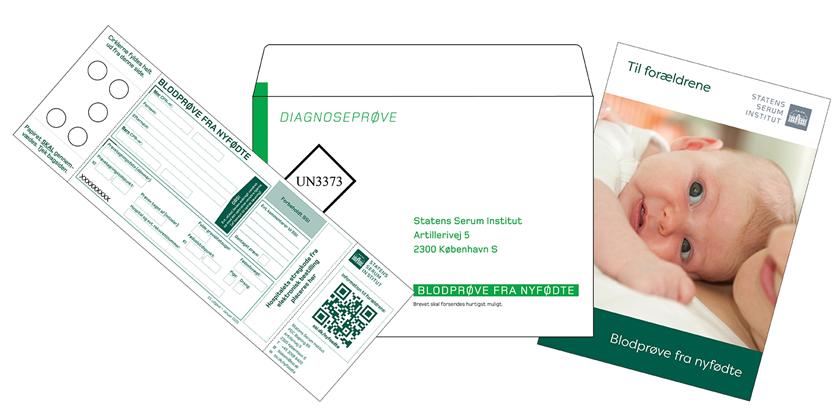 PKU-kort, PKU-kuvert, Brochure til forældrene - Blodprøve fra nyfødte